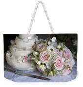 Wedding Bouquet And Cake Weekender Tote Bag