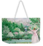 Welcome Home Love Weekender Tote Bag by Laurie Lundquist