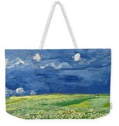 Wheatfield Under Thunderclouds Weekender Tote Bag