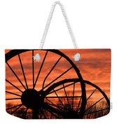 Wheel-n-axle Sunset.. Weekender Tote Bag