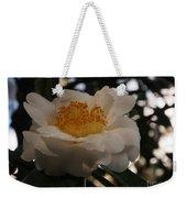 White Camellia Weekender Tote Bag