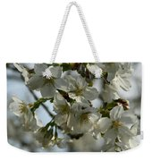 White Cherry Blossoms Weekender Tote Bag