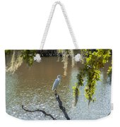 White Heron In Magnolia Cemetery Weekender Tote Bag