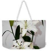 White Lily Spray Weekender Tote Bag