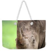 White Rhinoceros Weekender Tote Bag by Johan Swanepoel