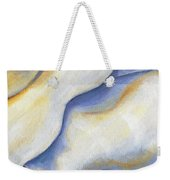 White Rose Two Panel Four Of Four Weekender Tote Bag
