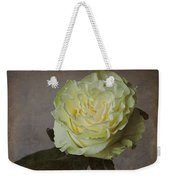 White Rose With Old Paper Texture Weekender Tote Bag