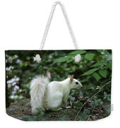 White Squirrel Weekender Tote Bag