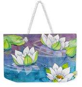 White Water Lilies Weekender Tote Bag