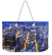 Wide Seattle Cityscape Weekender Tote Bag