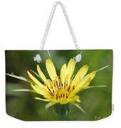 Wildflower Named Yellow Salsify Weekender Tote Bag