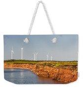 Wind Turbines On Atlantic Coast Weekender Tote Bag