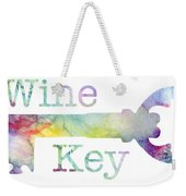 Wine Key Watercolor Weekender Tote Bag