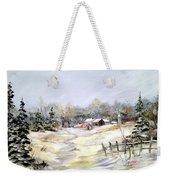 Winter At The Farm Weekender Tote Bag