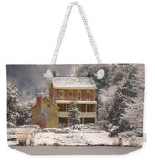 Winter Farm House Weekender Tote Bag