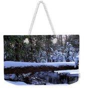 Winter Forest Stream Weekender Tote Bag
