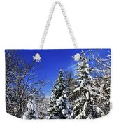 Winter Forest Under Snow Weekender Tote Bag