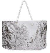 Winter Road Weekender Tote Bag by Cheryl Baxter