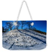Winter Scinery In The Mountains With Bllue Sky And Sunshine Weekender Tote Bag