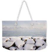 Winter Shore Of Lake Ontario Weekender Tote Bag by Elena Elisseeva