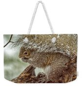 Winter Squirrel Weekender Tote Bag