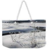 Winter Stream, Jasper National Park Weekender Tote Bag
