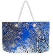 Winter Trees And Blue Sky Weekender Tote Bag