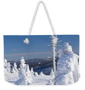 Winter View Of Snow Covered Trees Weekender Tote Bag