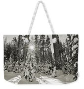 Winter Wonderland - Badger Pass In Yosemite National Park Weekender Tote Bag