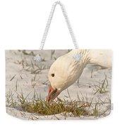 Wintering Snow Goose Weekender Tote Bag