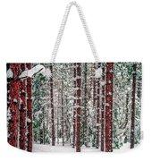 Winters Forest Weekender Tote Bag