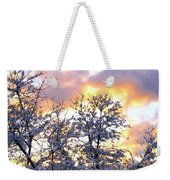 Wintry Sunset Weekender Tote Bag