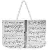 Wolfe Journal, 1759 Weekender Tote Bag