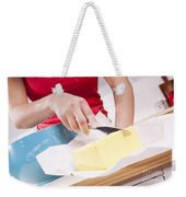 Woman Cooking Weekender Tote Bag