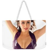 Woman Posing Weekender Tote Bag