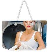 Woman Washing Clothes Weekender Tote Bag