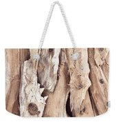 Wood Abstract Weekender Tote Bag