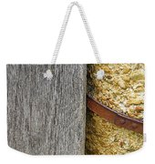 Wood Concrete And Steel In Color Weekender Tote Bag