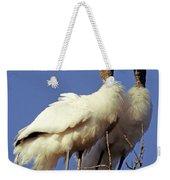 Wood Stork Courtship Display Weekender Tote Bag