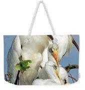 Wood Stork With Nestlings Weekender Tote Bag