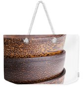 Wooden Bowls Isolated Weekender Tote Bag