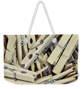 Wooden Clothes Pegs Weekender Tote Bag
