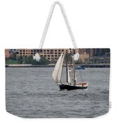 Wooden Ship On The Water Weekender Tote Bag