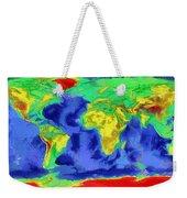 World Map Art Weekender Tote Bag