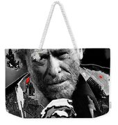 Writer Charles Bukowski On Tv Show Apostrophes In September 1978-2013 Weekender Tote Bag