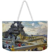 Wwii: Aircraft Carrier Weekender Tote Bag