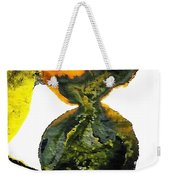 Yellow And Gray Interactions 8 Weekender Tote Bag by Amy Vangsgard