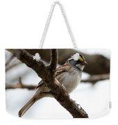 Yellow Crowned Sparrow Weekender Tote Bag