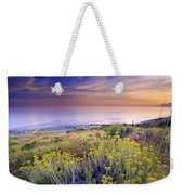 Yellow Flowers At The Sea Weekender Tote Bag