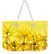 Yellow Forsythia Flowers Weekender Tote Bag